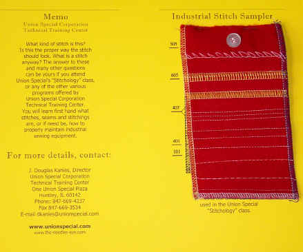 Industrial Stitch Sampler